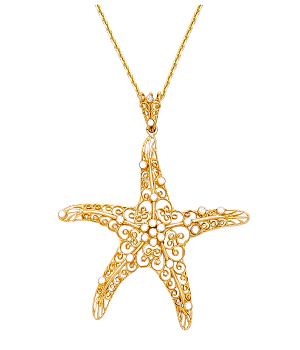 Starfish With Diamonds